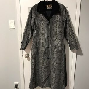 Gallery Women's Zebra Print Rain/Trench Coat